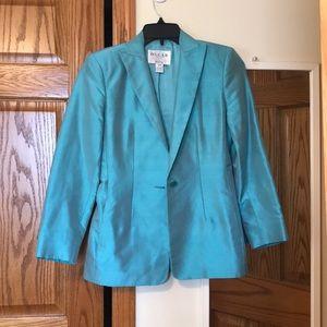 Oscar de la renta 100% Silk Blue Blazer